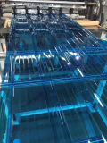 Feuille en plastique de PC de toiture de Foshan de feuille ondulée claire de polycarbonate