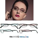 Marcos populares del titanio de los vidrios ópticos de la manera de los marcos de las lentes