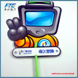 Costume que anuncia o plástico que anuncia o ventilador da mão da dobra para a promoção