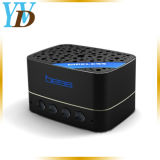 El bastidor de aluminio negro Mini Wireless panal de miel tarjeta TF Altavoces Bluetooth (YWD-Y20)