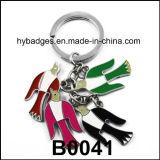 Beau trousseau de clés de panda, boucle principale en métal d'émail (GZHY-KA-021)