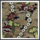 網の刺繍ファブリックテュルの刺繍のレース