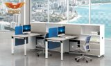 4 Seater 사무실 직원 일 책상 외침 센터 모듈 칸막이실 워크 스테이션 (H50-0215)
