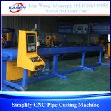 Type léger machine de découpage ronde de pipe de commande numérique par ordinateur pour le diamètre