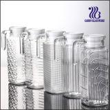 1L高く白い品質の白いふた(GB1102F)が付いているガラス水差しの/Glassの水差し