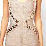 Stift-Verband-Kleid der Frauen mit einem Sleeveless Backless Kleid