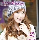 겨울 꽃 뜨개질을 하는 모자 -2