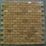 Желтого цвета дерева ключе использованием мозаики плитки для монтажа на стену, на кухне