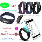 0.86 '' pouce folâtre le bracelet avec le moniteur de pression sanguine (HB06)