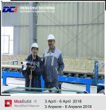 Le papier automatique a fait face à la chaîne de production de panneau de Gyspum avec l'ingénieur d'outre-mer