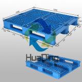 Pálete do plástico da capacidade de carga do corredor do material três do HDPE 1200*1000 grande
