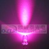 Очень яркий розовый 5 мм светодиодный светильник диод, длина волны mcd 5000-8000460-470Нм,