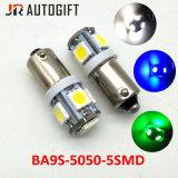 indicatore luminoso interno automatico 5LEDs delle lampadine Ba9s 5050 del cruscotto LED dell'automobile 12V/24V