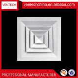 Diffusore quadrato di alluminio dell'aria del soffitto 4-Way del fornitore della Cina