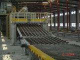 La línea de producción de placas de yeso