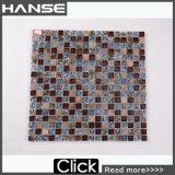 Qj002 verzieren Küche-Glasmosaik-Fliese der Wand-15X15mm Brown