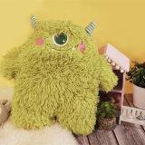 모피 아이 선물 박제 동물 장난감 견면 벨벳 녹색 괴물