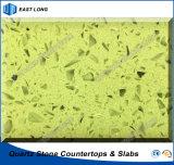Pedra artificial Polished para partes superiores de tabela das partes superiores contrárias com relatório do GV (cores de quartzo)