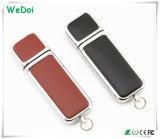 Banheira de venda de uma unidade Flash USB de couro com baixo custo para o presente de Natal (WY-L07)