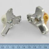 De aangepaste Legering van het Aluminium van het Roestvrij staal CNC die het drie-Blad van de Gyroscoop van de Vingertop van het Deel Metaal Shell met een Steun van het Aluminium machinaal bewerken