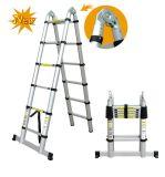 3.8m Escada telescópica de alumínio com mecanismo de bloqueio de segurança