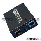 1000m SFP Media Converter с внешний адаптер питания и SFP