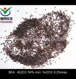 O óxido de alumínio castanho para mídia de abrasivos e refractários de matérias-primas