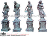 Чугунные Четыре Сезона статуи для дома и на улице (SK-5016)