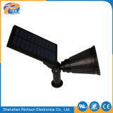 PVC IP65 리튬 건전지 옥외 LED 태양 반점 빛