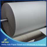 "小売りおよびWholesale Highquality 63 "" Wide、393 ' Long、アメリカの3 "" Coreの100GSM TackyかSticky Sublimation Heat Transfer Paper"