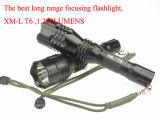 Lunga autonomia eccellente del codice categoria superiore che mette a fuoco la torcia ricaricabile del LED