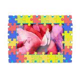習慣3D 3Dゴム製PVC冷却装置磁石の写真フレーム