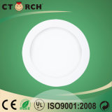 Luz del panel redonda superficial de la serie LED de Corch 6W