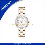 De Horloges van de Dames van juwelen bloeien het Afgedrukte Bestand Water van het Polshorloge van de Diamant