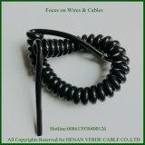 3core 5 основных пользовательских спирального провода Спиральный кабель PUR