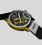 Il disegno di alta qualità la vostra propria cinghia del silicone del quarzo di sport del Mens di marca mette in mostra la vigilanza di gomma del Wristband con il marchio
