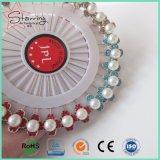 真珠のステンレス鋼ポイントとの円形のアクリルのヘッド長いHijabのスカーフPin