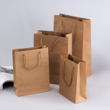 Eco friendly bolsas de papel cuadrado para Supermaket