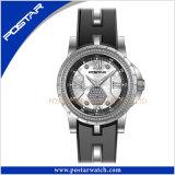 Psd-2317 de dames maken het Horloge van het Roestvrij staal met IP Gouden Plateren waterdicht