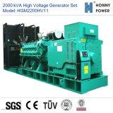 2000kVA Groupe électrogène haute tension 10-11 kv avec moteur Googol 50Hz