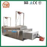De automatische Bradende Apparatuur van het Voedsel van het Gas Ononderbroken Transportband Gebraden