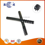 Fabricante de alta precisión algunas flautas de carburo sólido final molino con dentado helicoidal para corte de alta velocidad se utiliza en torno CNC personalizado disponible
