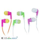 Cheap personnalisés en silicone souple de l'oreille Promotionmobile écouteurs stéréo