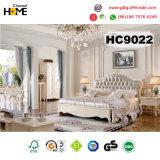 Европейский деревянный король Размер Кровать и кожаный Headboard мебели (HC9021)