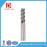 3 moinho de extremidade contínuo de alumínio quadrado do carboneto da flauta HRC55