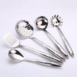5 parties 304 ustensiles de cuisine d'acier inoxydable