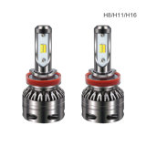 Do farol duplo das lâmpadas da névoa do bulbo H7 H8 H11 30W 6000lm do diodo emissor de luz do farol do diodo emissor de luz da cor do carro S5 farol ambarino branco