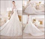 Spitze-Brauthochzeits-Kleid-langes Hülsen-Nixe-Hochzeits-Kleid Y6401