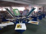 Imprimante manuelle d'écran de textile de 6 couleurs
