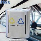 Compresa decorativa elegante de la poder de basura del metal de interior del cubo de basura